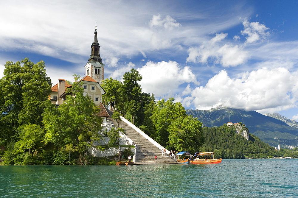 Church of the Assumption, Bled Island, Lake Bled, Slovenia, Europe