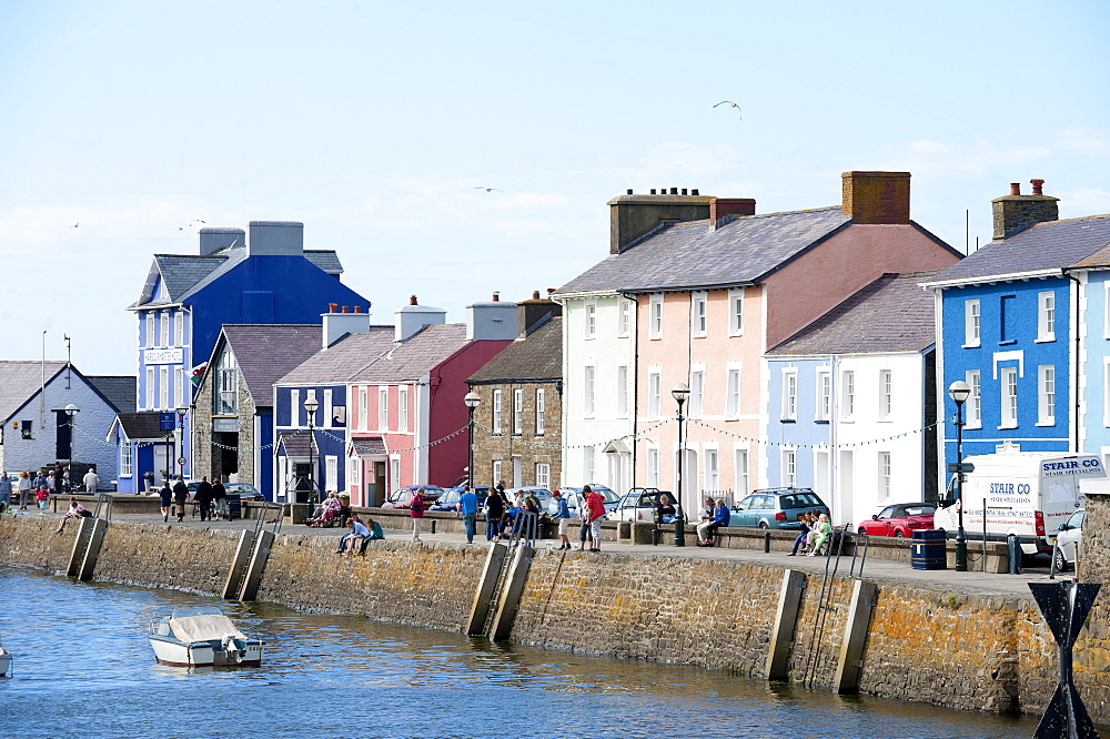 A view of the harbour at Aberaeron, Ceredigion, Wales, United Kingdom, Europe - 663-804