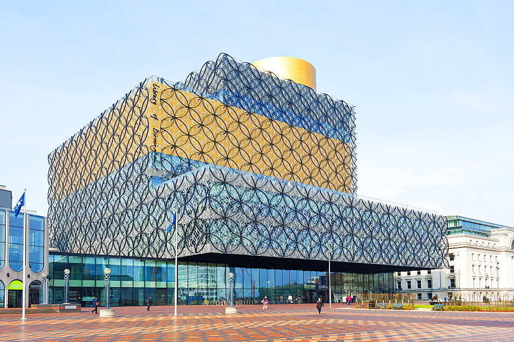 View of The Library of Birmingham, England, United Kingdom, Europe - 663-816