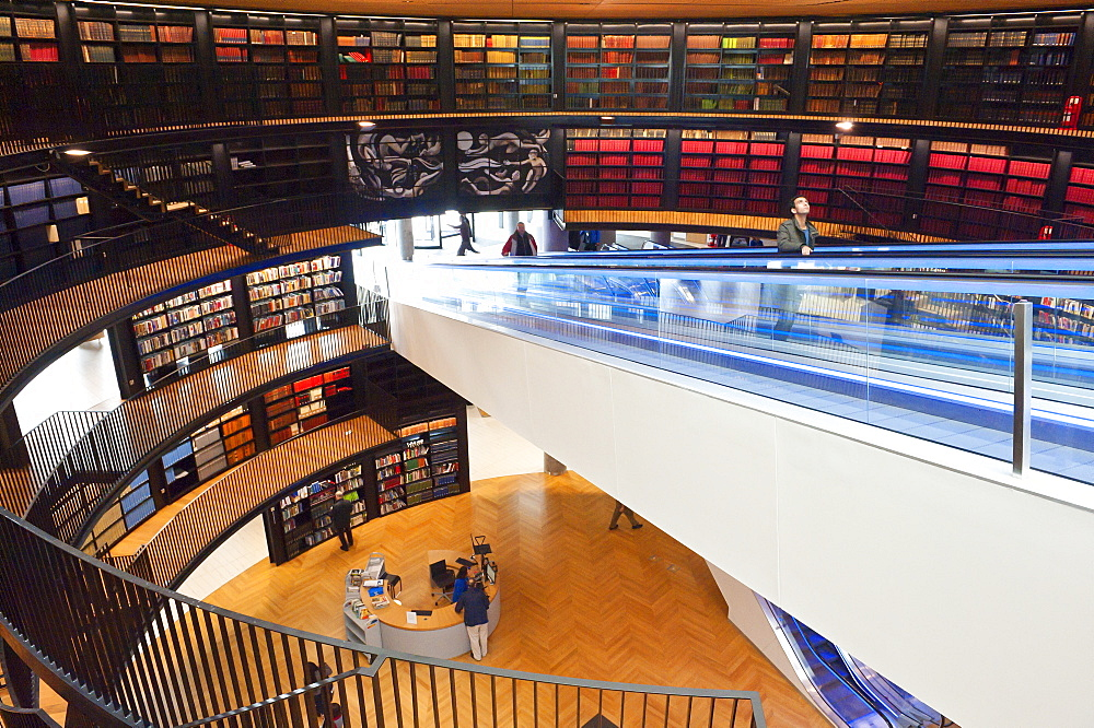 Interior view of The Library of Birmingham, England, United Kingdom, Europe - 663-817
