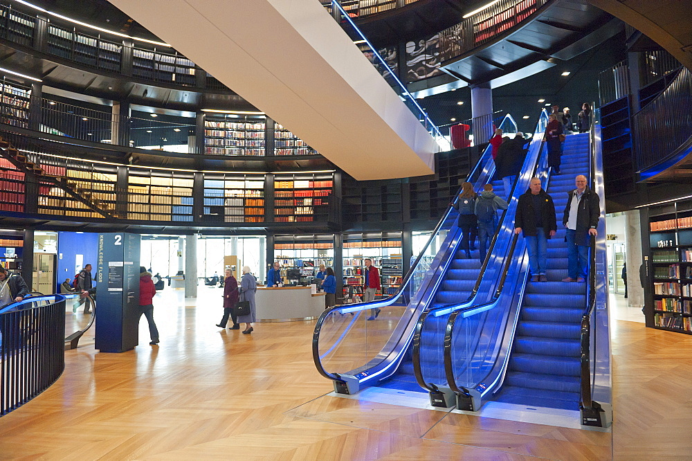 Interior view of The Library of Birmingham, England, United Kingdom, Europe - 663-819