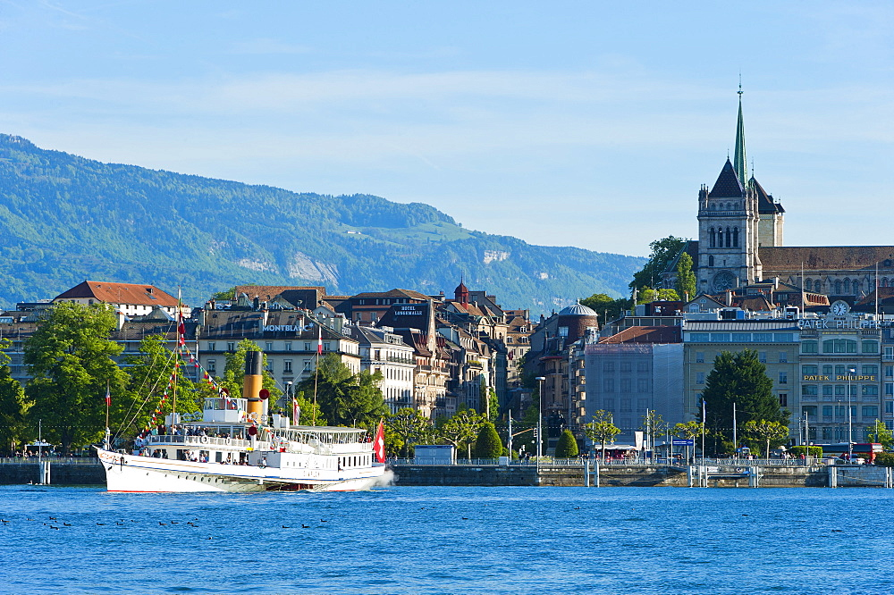 Steamboat, Lake Geneva, Geneva, Switzerland, Europe