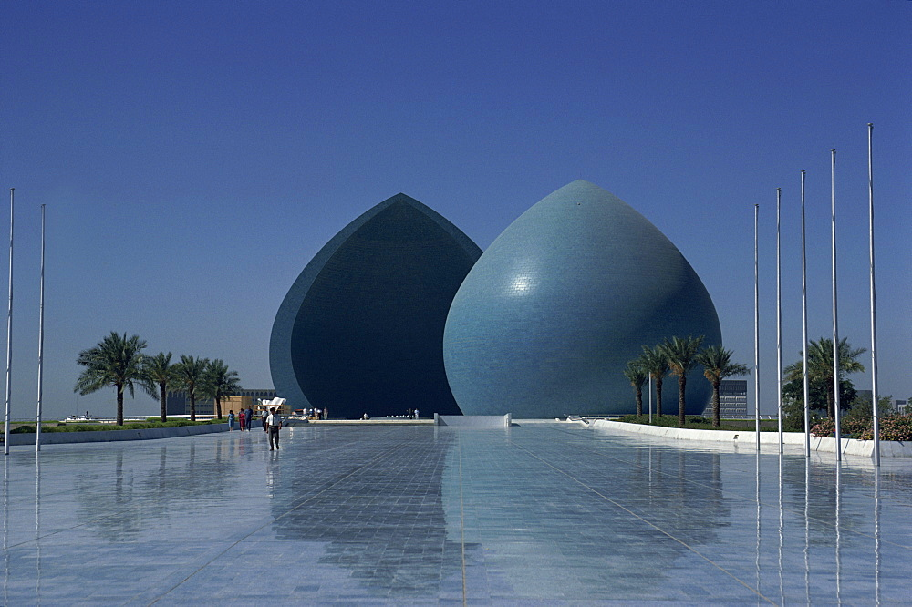 Blue structures, Martyrs Monument, Baghdad, Iraq, Middle East