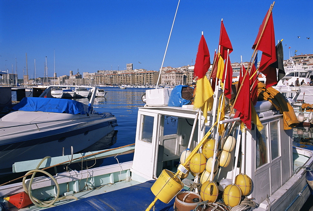 Vieux Port, Marseille, Bouches-du-Rhone, Provence, France, Europe