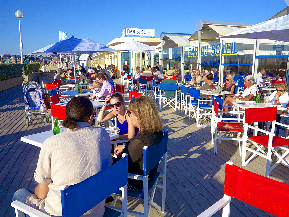 The Bar du Soleil, on the famous Planches, Deauville, Calvados, Normandy, France, Europe