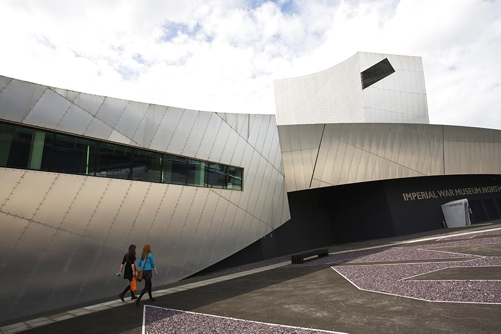Imperial War Museum North, Salford Quays, Salford, Greater Manchester, England, United Kingdom, Europe