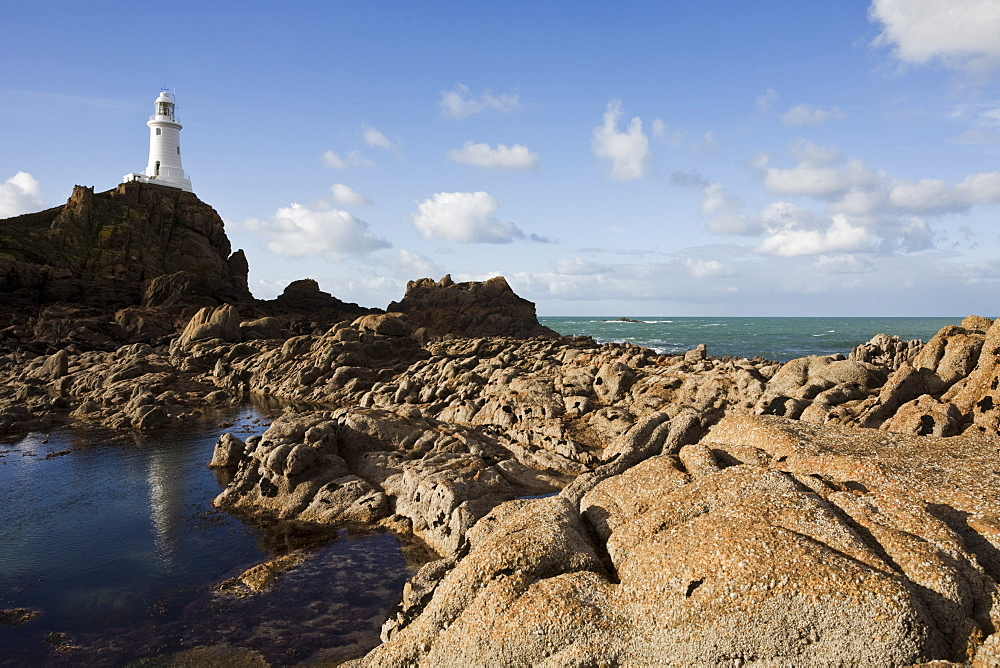 Lighthouse, La Corbiere, St. Brelade, Jersey, Channel Islands, United Kingdom, Europe