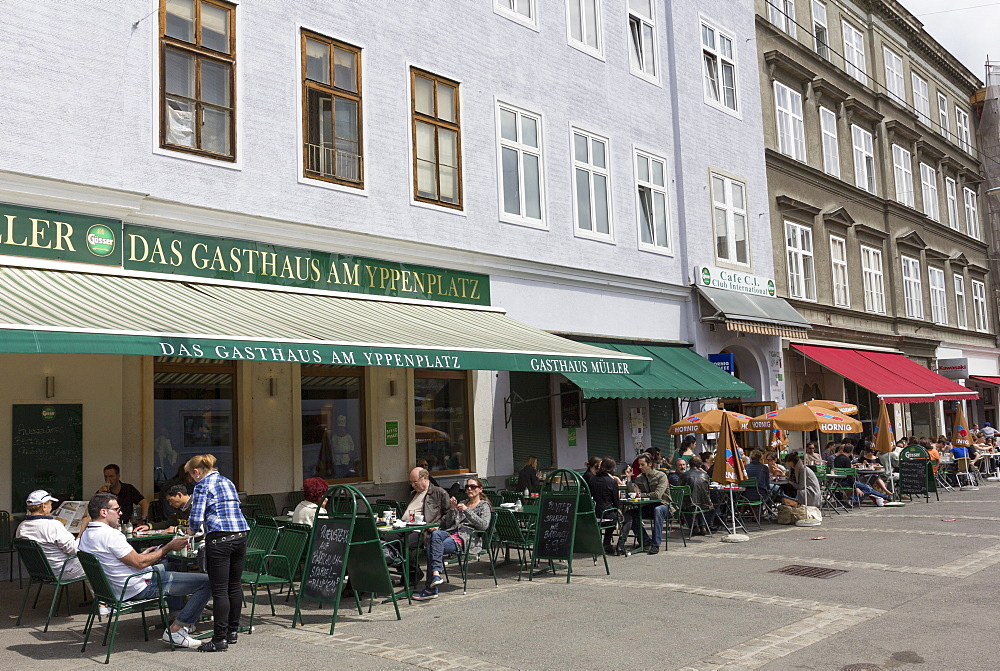 Restaurant on Yppenplatz, 16th District, Vienna, Austria, Europe