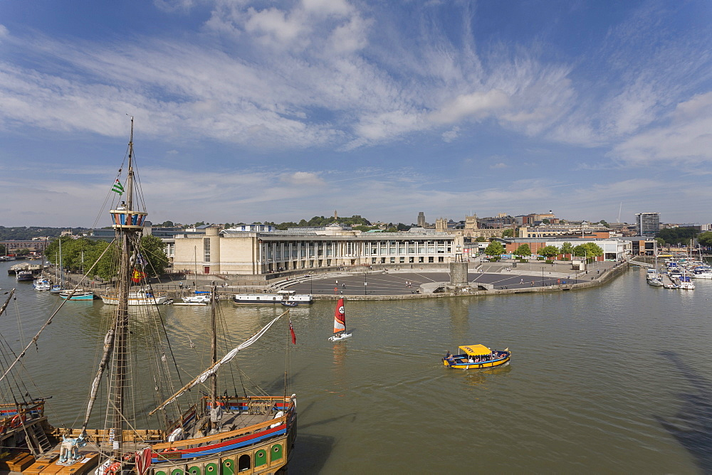 View towards town centre from the harbour, Bristol, Avon, England, United Kingdom, Europe - 667-2561