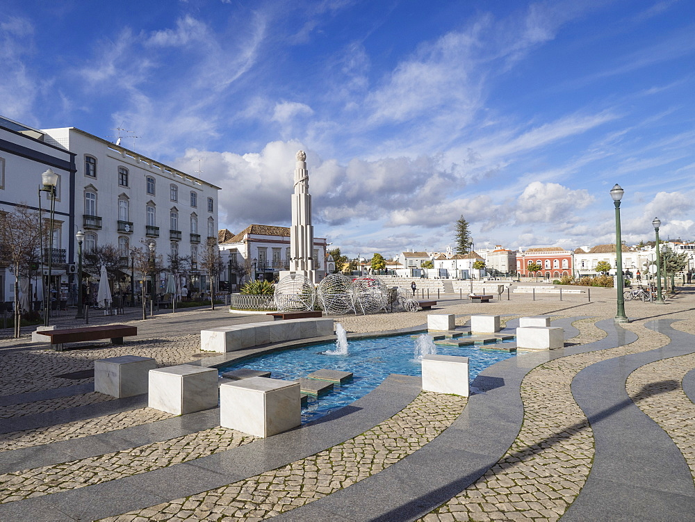 Square of the Republic, Tavira, Algarve, Portugal, Europe - 667-2642