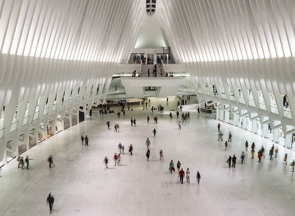 Calatrava's World Trade Center Oculus Shopping Mall, New York, United States of America, North America