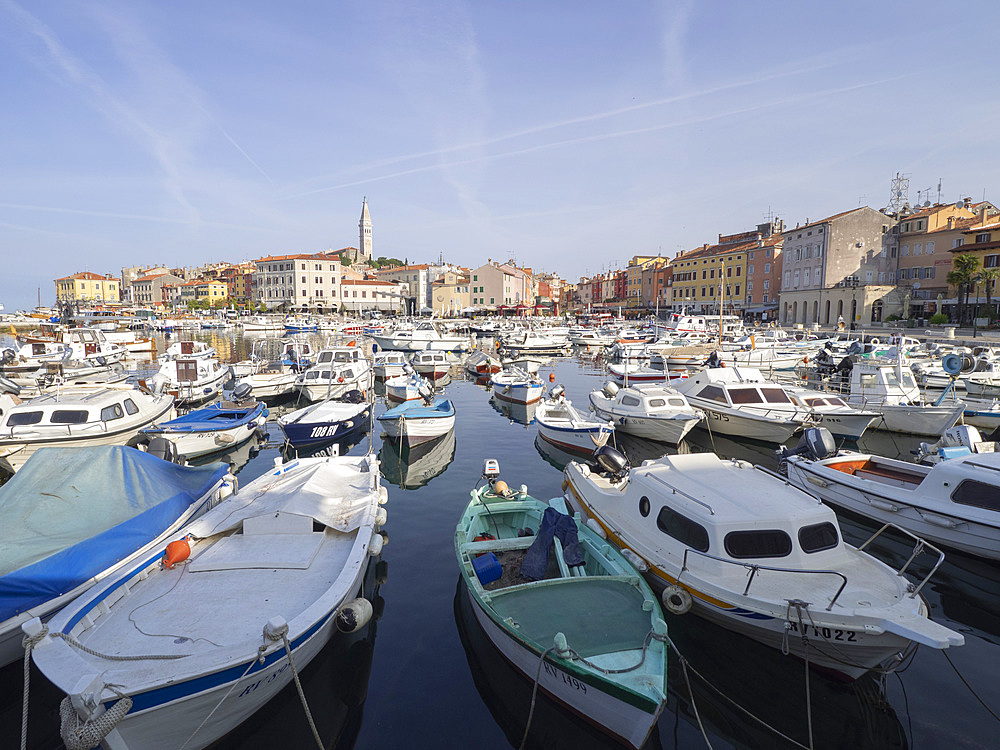 The harbour, Rovinj, Istria, Croatia, Europe - 667-2670