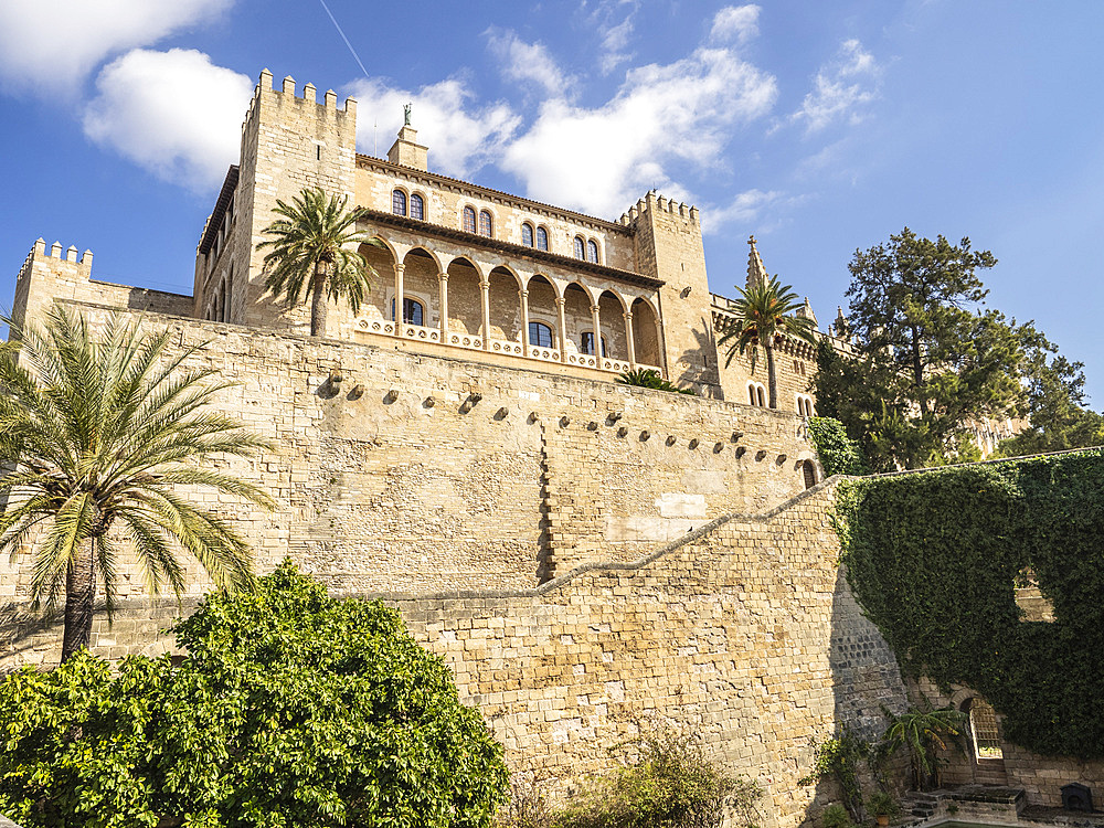 Royal Palace, Palma, Mallorca, Balearic Islands, Spain, Mediterranean, Europe