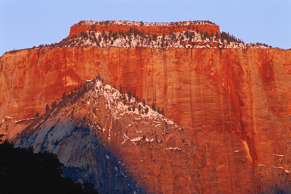 Sunrise, West Temple, Zion National Park, Utah, United States of America, North America