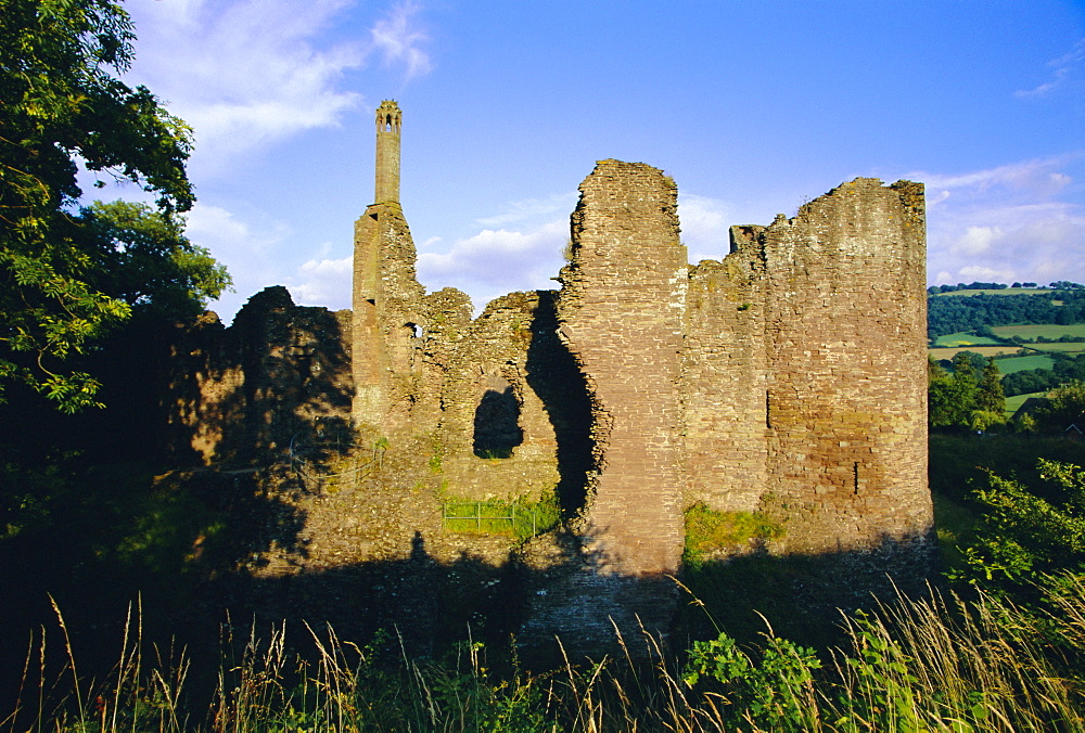 Ruined 13th century castle, Grosmont, Monmouthshire, Wales, UK, Europe