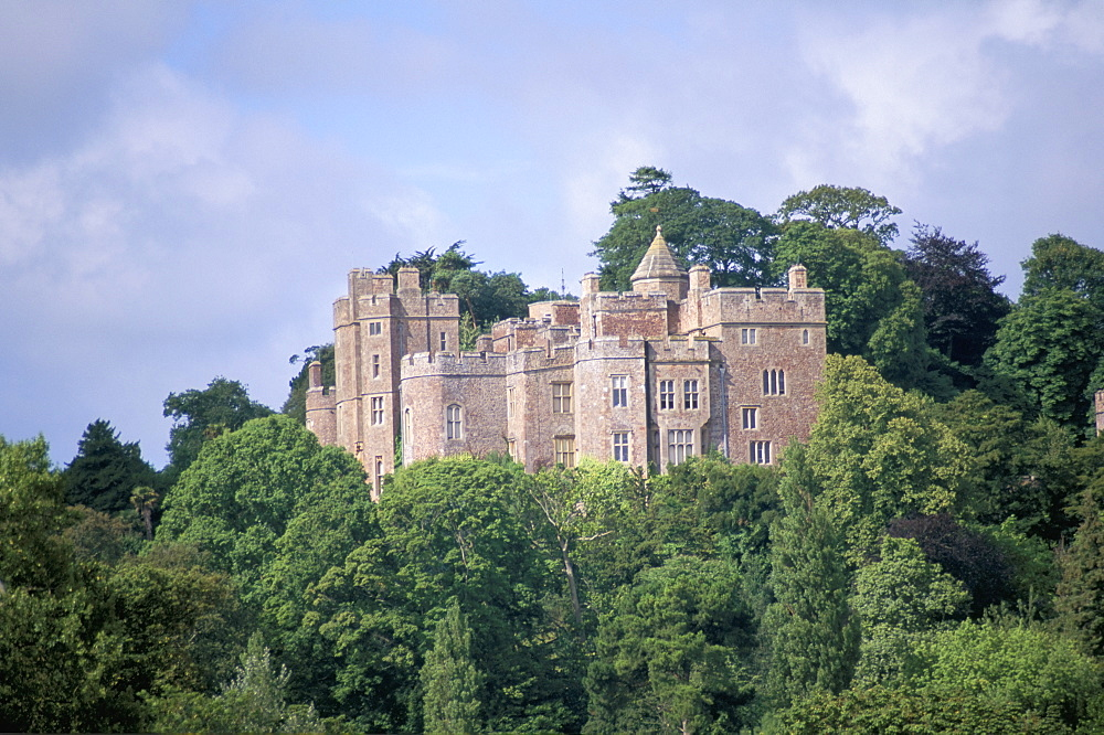 Dunster Castle (property of the National Trust), Dunster, Somerset, England, United Kingdom, Europe
