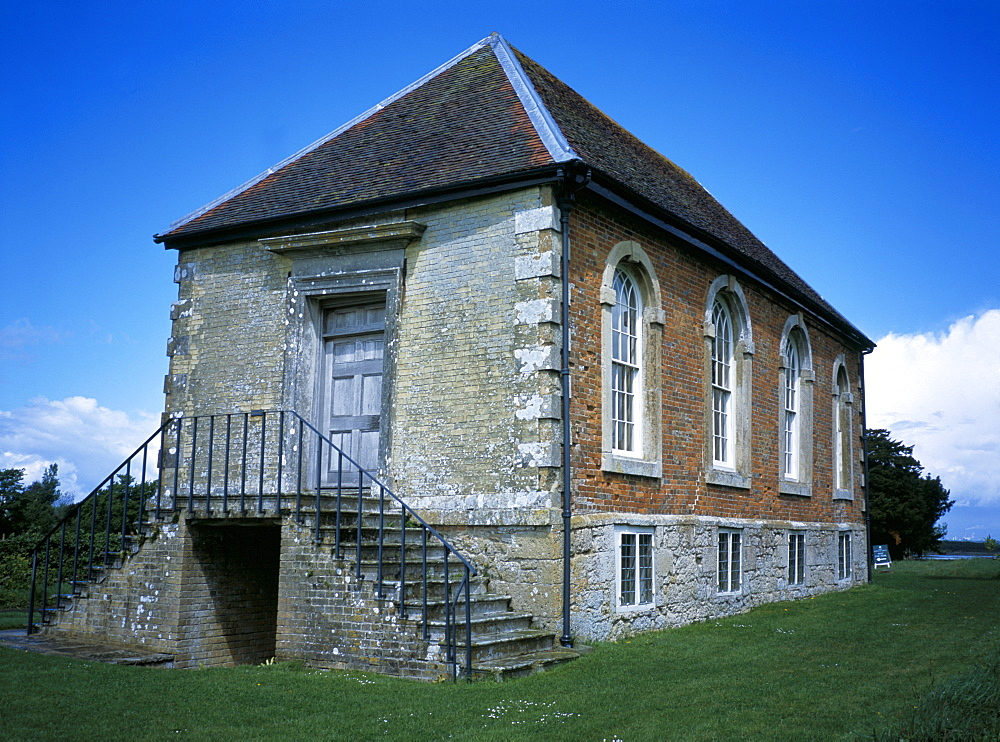 Old Town Hall, owned by National Trust, dating from circa 1700, Newtown, Isle of Wight, England, United Kingdom, Europe