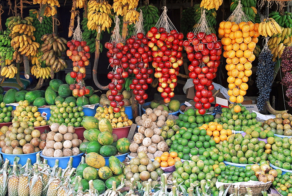 Fruit stall near Colombo, Sri Lanka, Asia