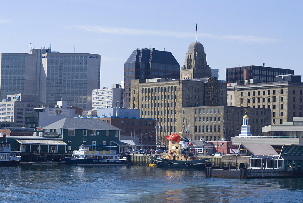 City view from harbour, Halifax, Nova Scotia, Canada, North America