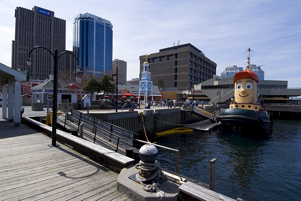 Harbour Walk, with Theodore the Tug, Halifax, Nova Scotia, Canada, North America