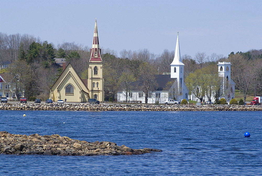 The Three Churches, Mahone Bay, Nova Scotia, Canada, North America