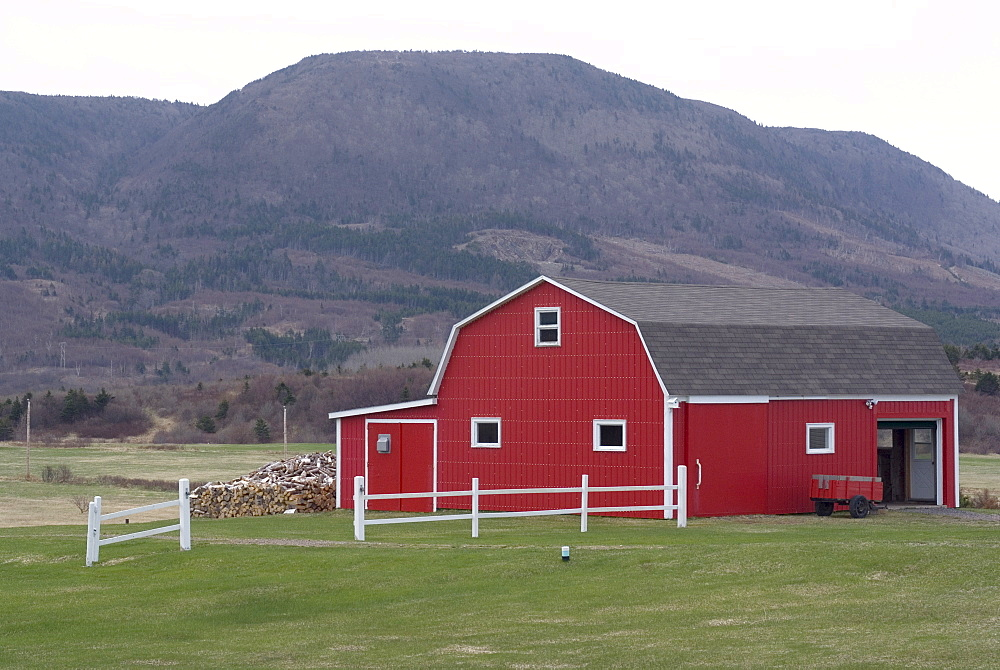 Farmhouse, near Cheticamp, Cape Breton, Nova Scotia, Canada, North America