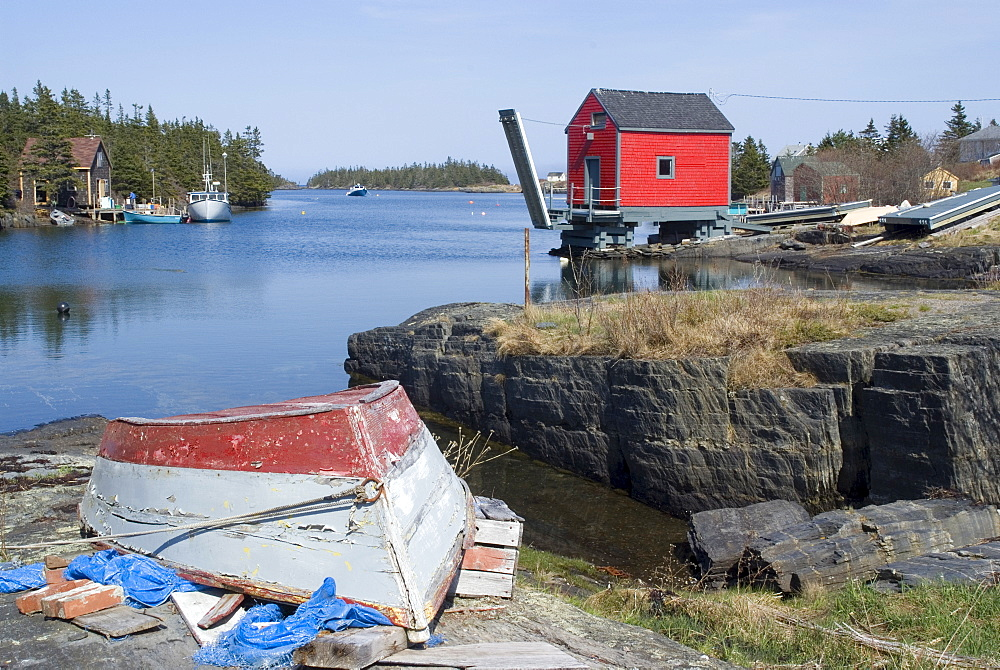 Fishing village of Stonehurst South, Nova Scotia, Canada, North America