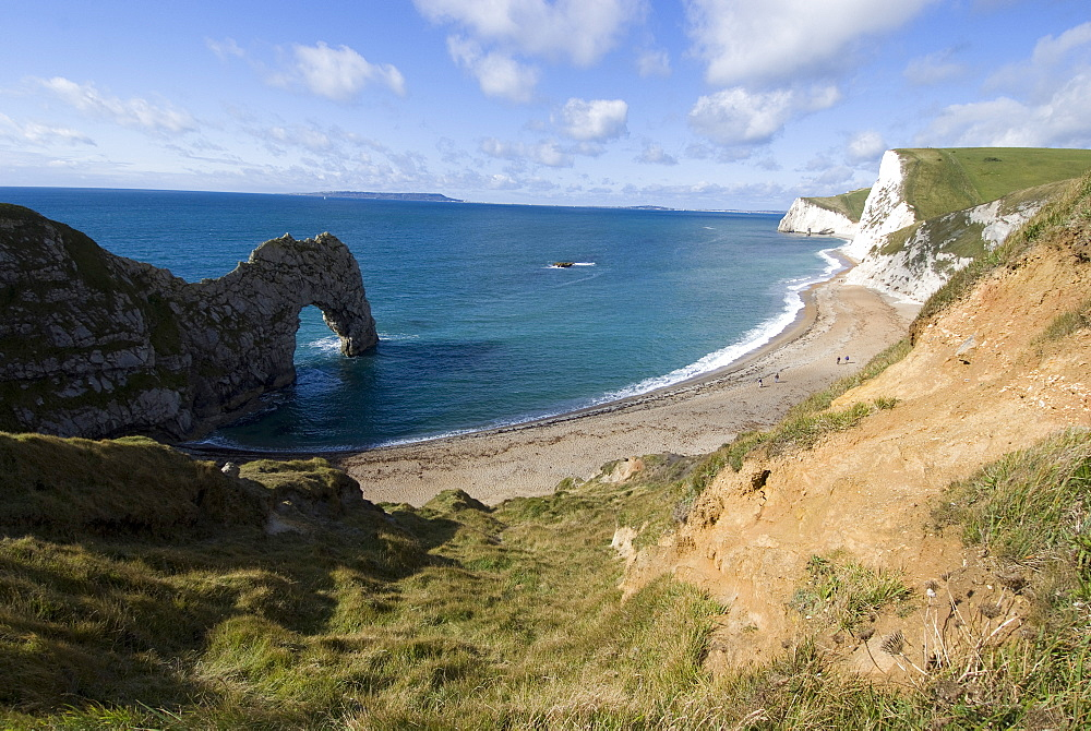 Durdle Door, Jurassic Coast, UNESCO World Heritage Site, Dorset, England, United Kingdom, Europe