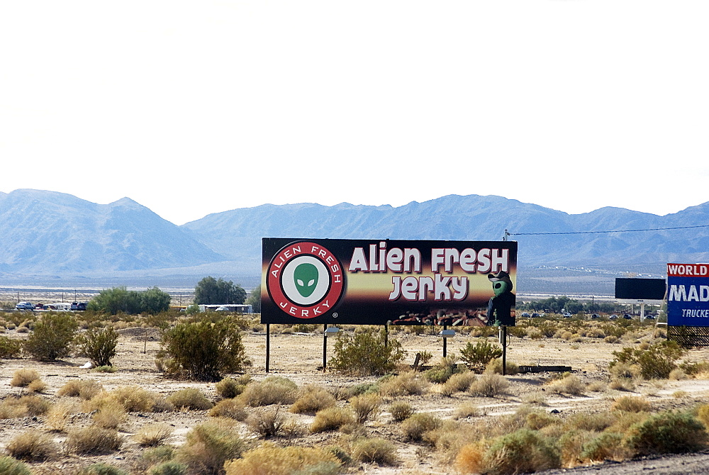 Fresh Alien Jerky, near Area 51, Baker, California, United States of America, North America