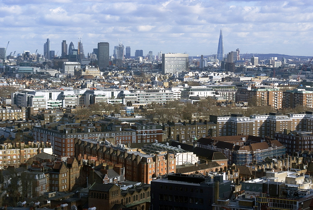 View over London from the top of the Hilton Metropole, London, W2, England, United Kingdom, Europe