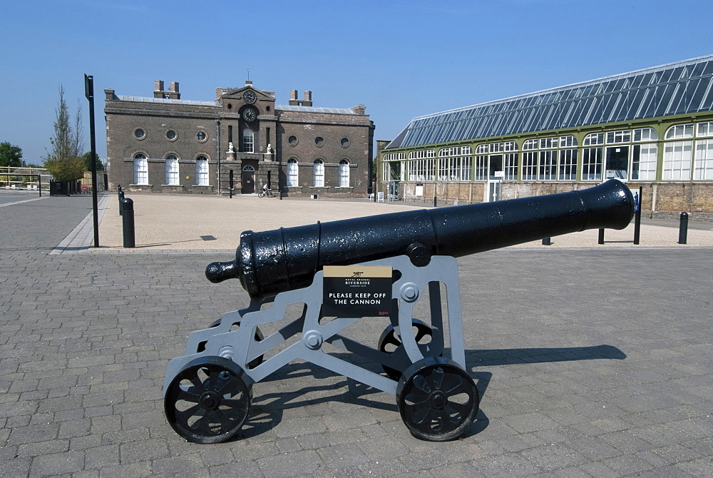 Old cannon, Woolwich Arsenal Military Museum, London, SE18, England, United Kingdom, Europe