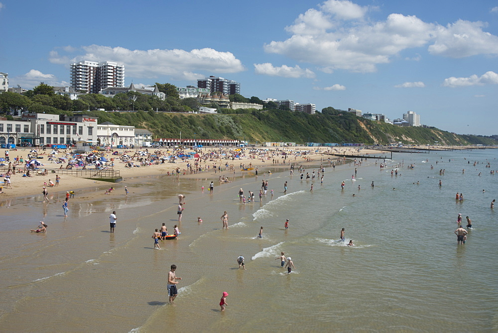 The beach at Bournemouth, Dorset, England, United Kingdom, Europe