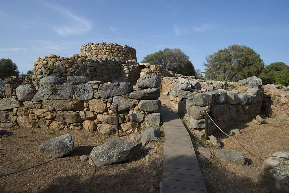 Nuraghe La Prisgiona archaeological site, dating from 1300 BC, near Arzachena, Sardinia, Italy, Europe - 685-2599