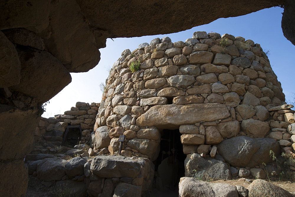 Nuraghe La Prisgiona archaeological site, dating from 1300 BC, near Arzachena, Sardinia, Italy, Europe - 685-2600