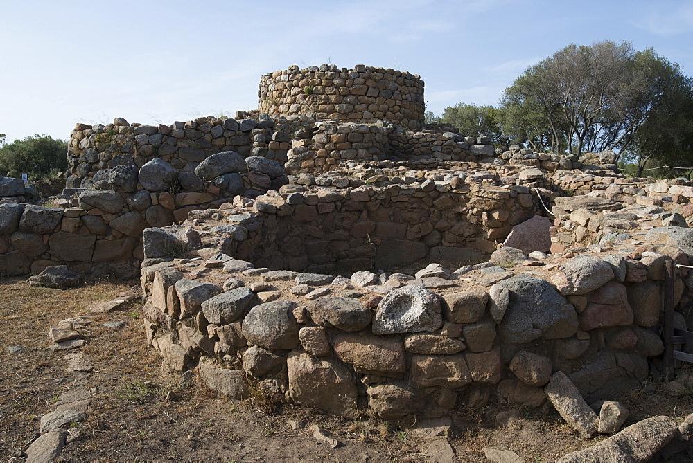 Nuraghe La Prisgiona archaeological site, dating from 1300 BC, near Arzachena, Sardinia, Italy, Europe - 685-2601