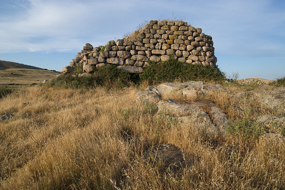 Nuraghe Izzana, one of the largest Nuraghic ruins in the province of Gallura, dating from 1600 BC, Sardinia, Italy, Europe - 685-2610