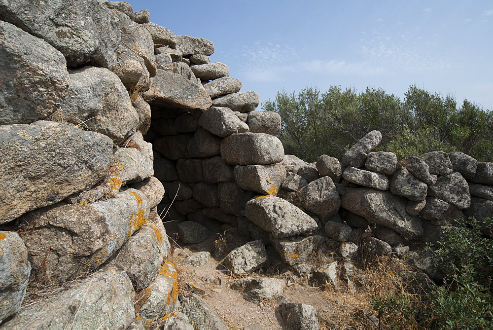 Nuraghe Tuttusoni, one of the Nuraghic ruins in the province of Gallura, Sardinia, Italy, Europe - 685-2611