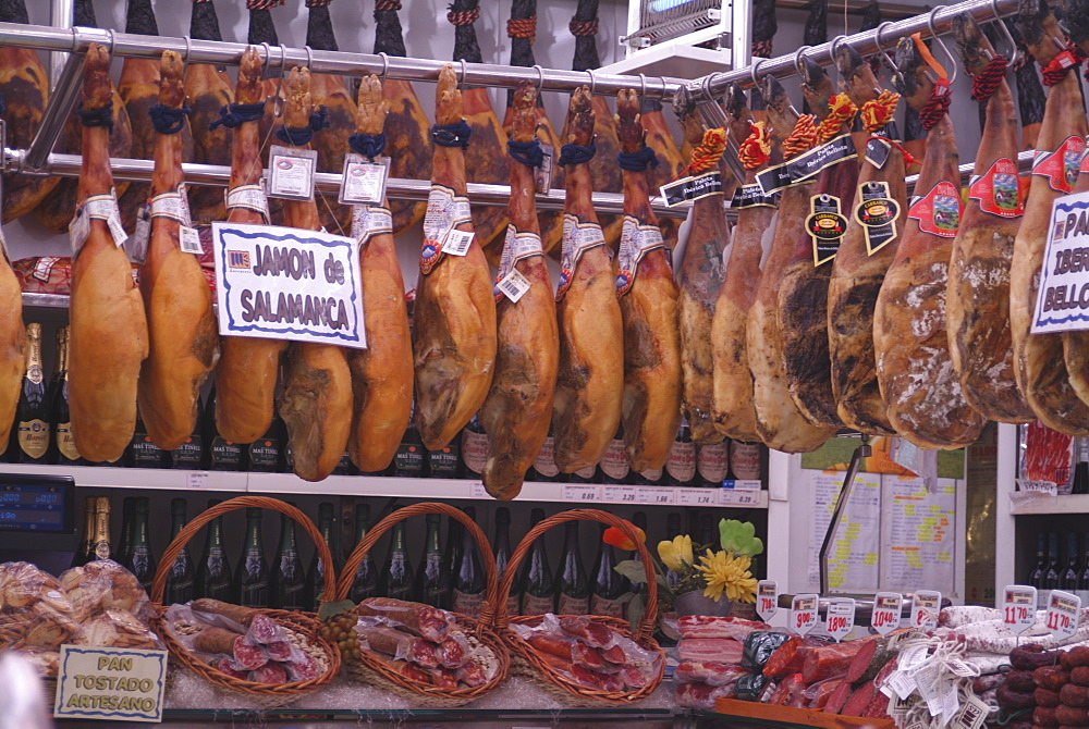 Jamon Shop, Barcelona, Catalonia, Spain, Europe