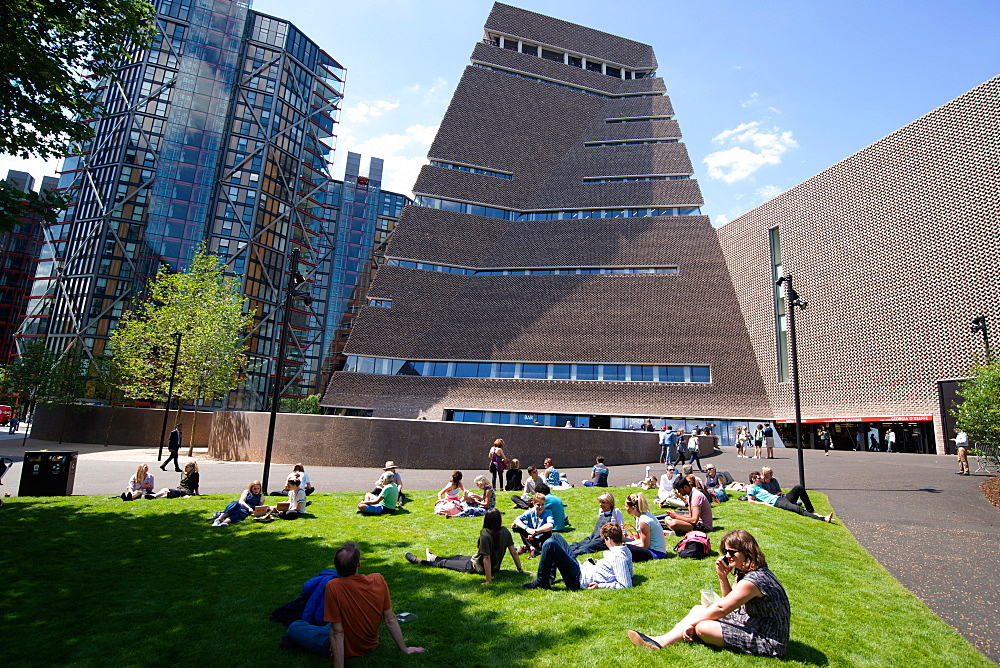 The new Tate Modern Annex, designed by Herzog and de Meuron, Southwark, London, SE1, England, United Kingdom, Europe - 685-2656