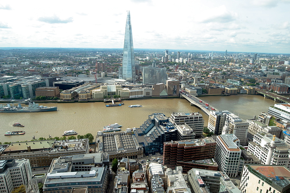View towards the Shard from the Sky Garden, London, EC3, England, United Kingdom, Europe - 685-2666