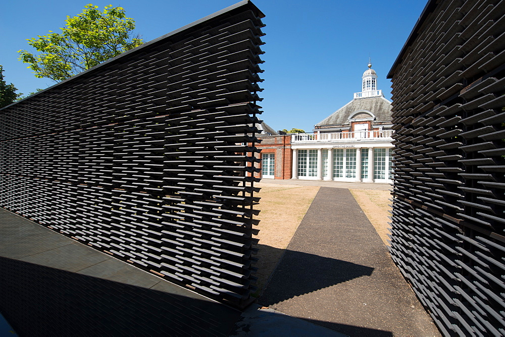 The 2018 Pavilion at the Serpentine Gallery, designed by Frida Escobedo, London, W2, England, United Kingdom, Europe