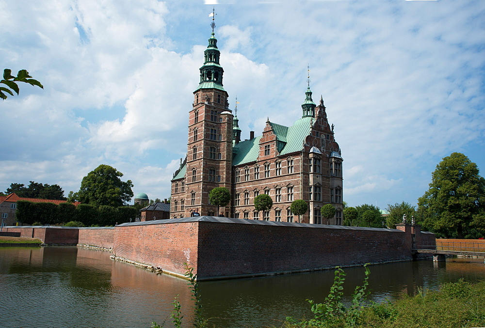 Rosenborg Castle built in the 17th century by Christian IV, Copenhagen, Denmark - 685-2698