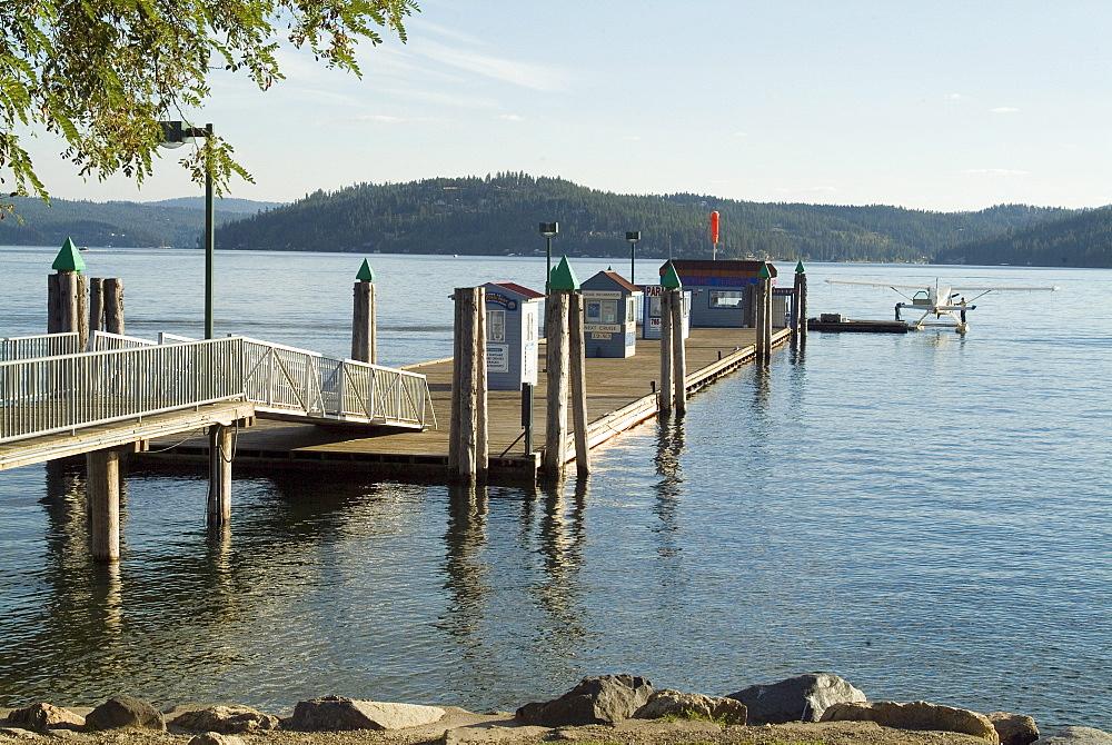 Seaplane lake station, Coeur d'Alene, Idaho, United States of America, North America