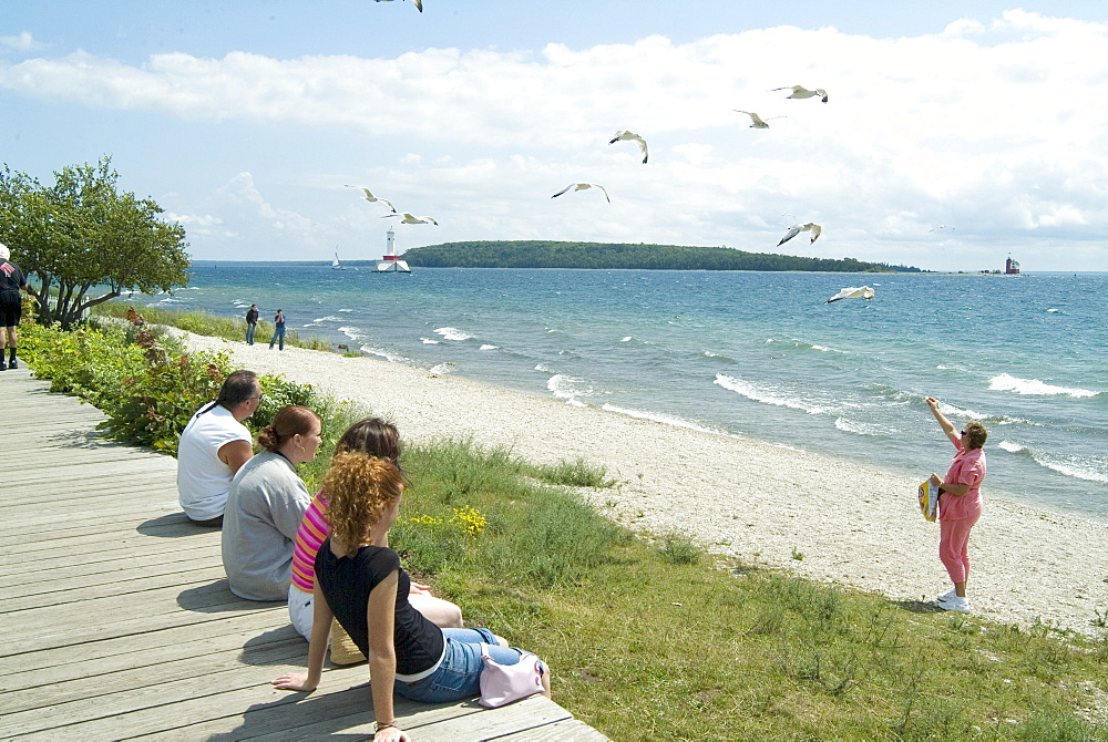 Beach, Mackinac Island, Michigan, United States of America, North America