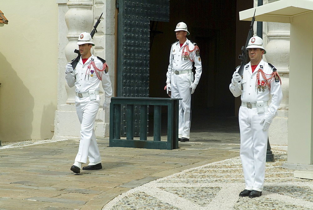 Changing of the Guard in front of the Royal Palace, Monaco-Veille, Monaco, Europe