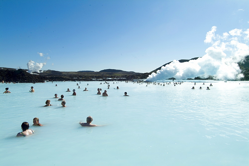 Blue Lagoon (mineral baths), near Keflavik, Iceland, Polar Regions - 685-596