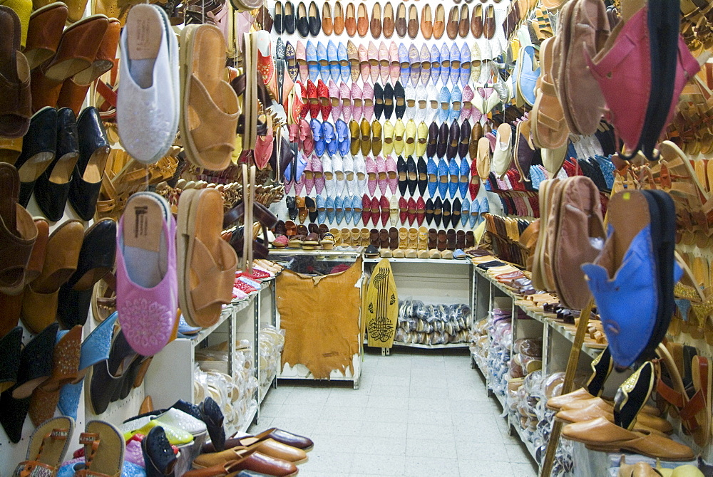 Shoe Market, Houmt-Souk, Island of Jerba, Tunisia, North Africa, Africa