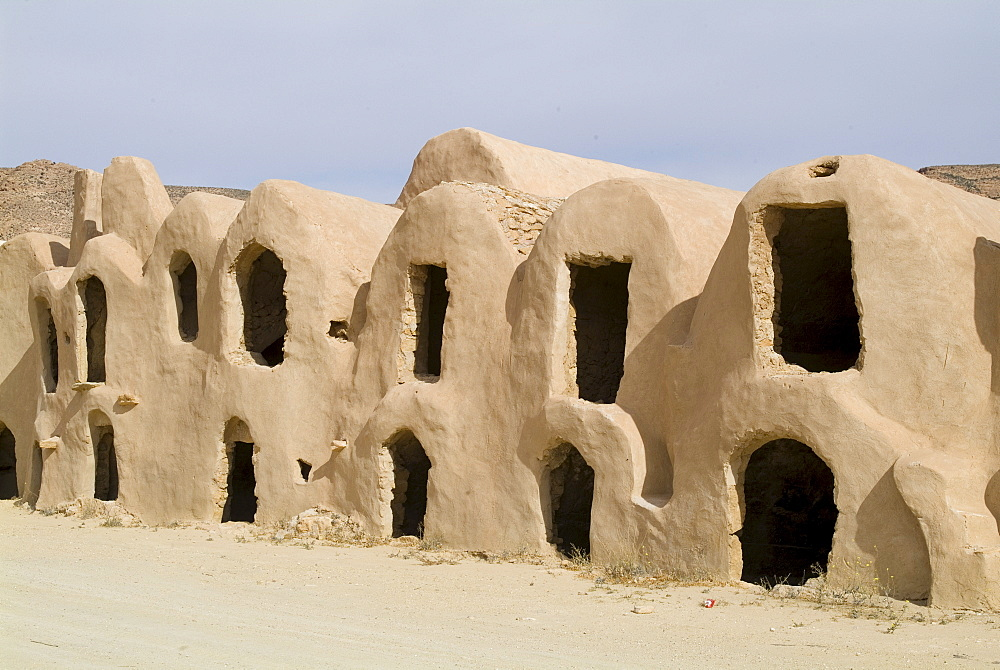 Berber grain storage units, now a hotel, Ksar Halouf, Tunisia, North Africa, Africa