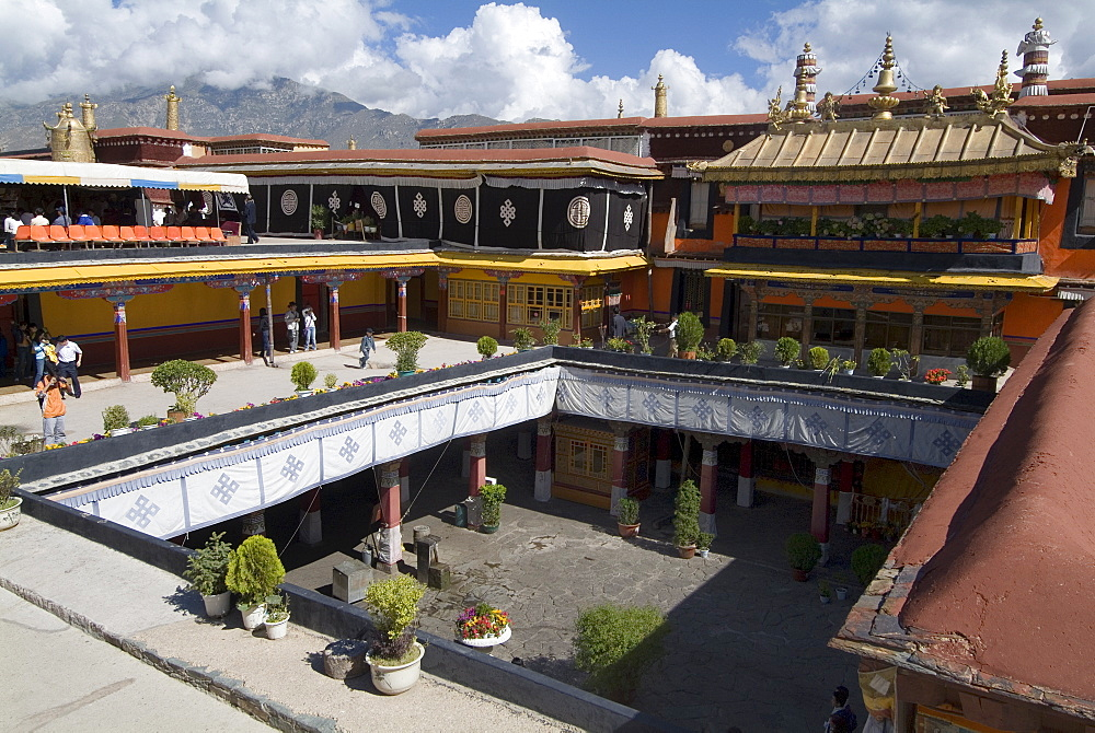 Jokhang Temple, the most revered religious structure in Tibet, Lhasa, Tibet, China, Asia