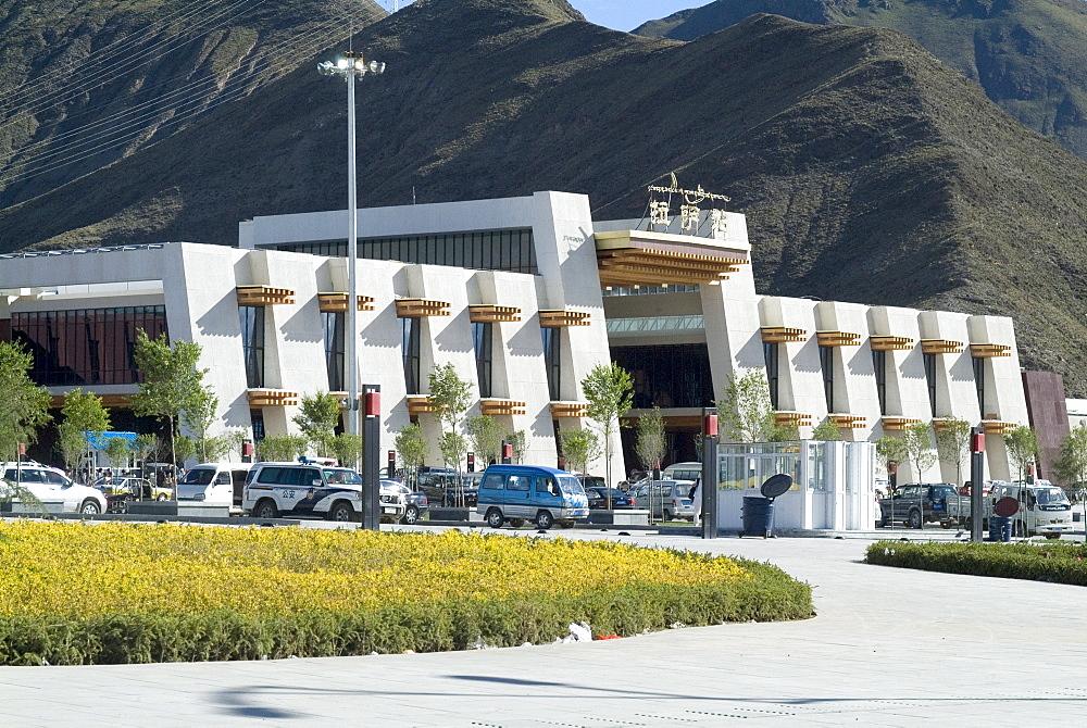 New Railway station, Beijing to Lhasa, Lhasa, Tibet, China, Asia